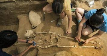Philistine skeleton?